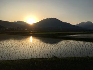 田園風景 夕方
